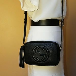 18952af76385 Gucci Bags | Soho Disco Super Mini Crossbody Bag Black | Poshmark